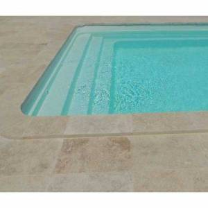 Piscine coque Troie 6 : 5.95 x 3.20 x 1.50 m + LUXE + Coffre PVC hors sol - Publicité