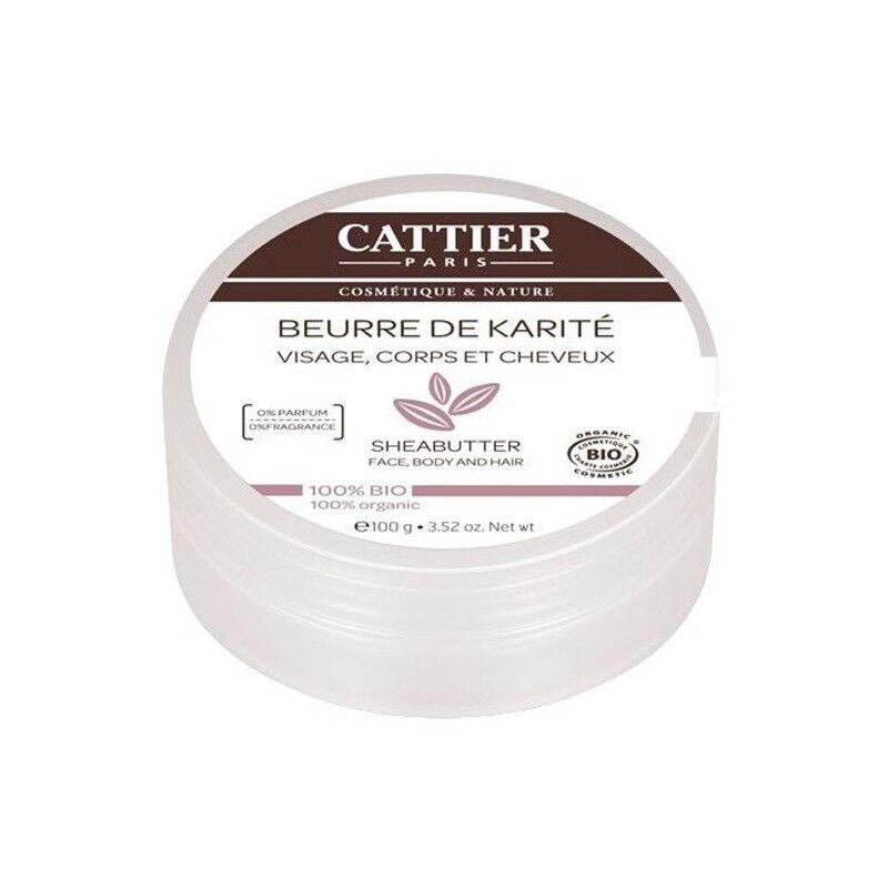 Cattier Beurre de Karité 100% Naturel - BIO -100 g - Cattier