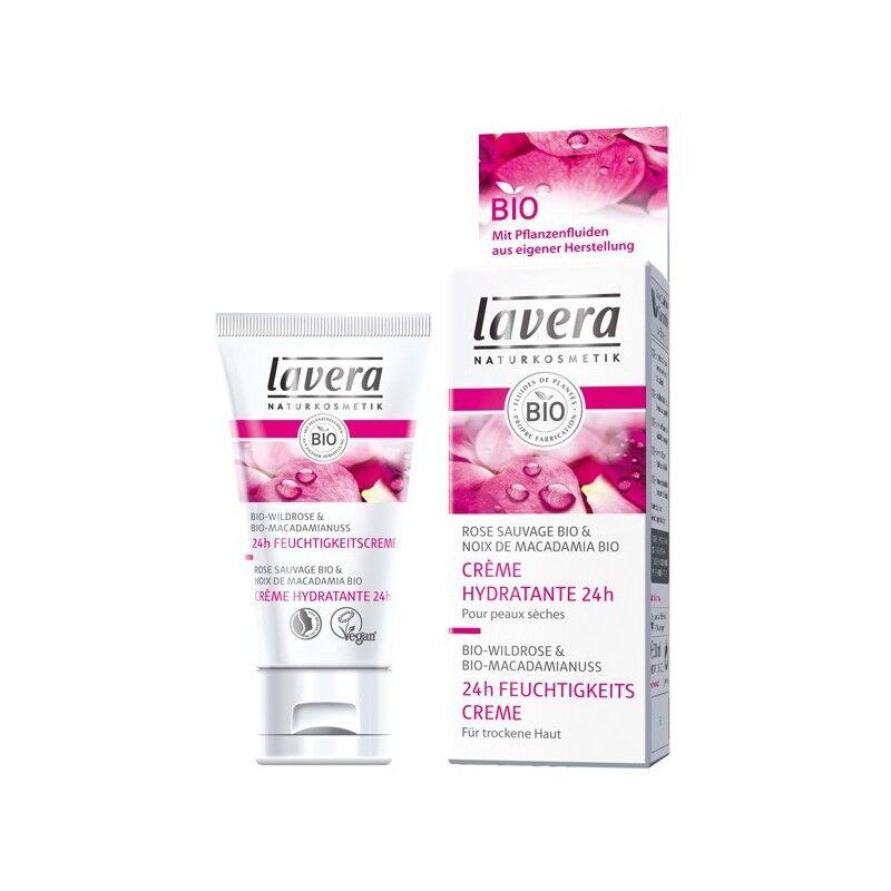 Lavera Crème hydratante 24 h à la Rose - BIO - Peau Sèche - Lavera - 50 ml