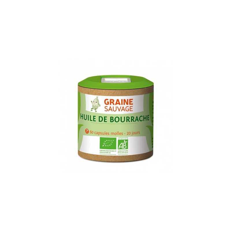 Graine Sauvage Huile de bourrache Bio, 60 capsules molles - Graine Sauvage