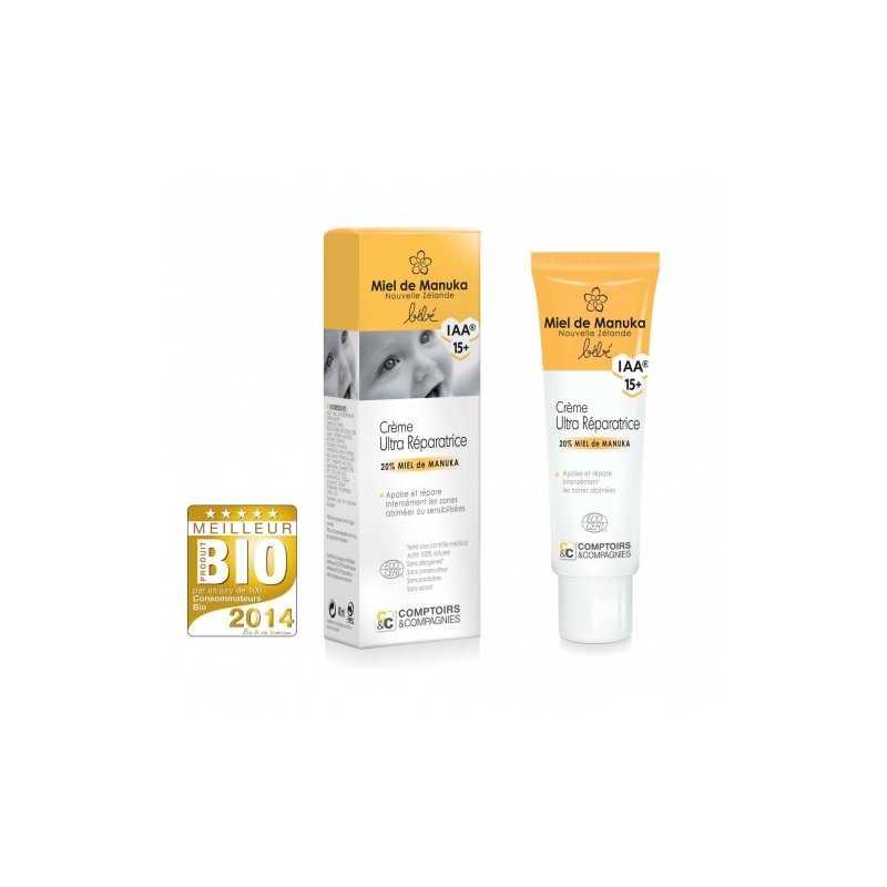 Comptoirs et compagnies Crème ultra-réparatrice Bio bébé au miel de Manuka IAA15+ - 40 ml - Comptoirs et compagnies -