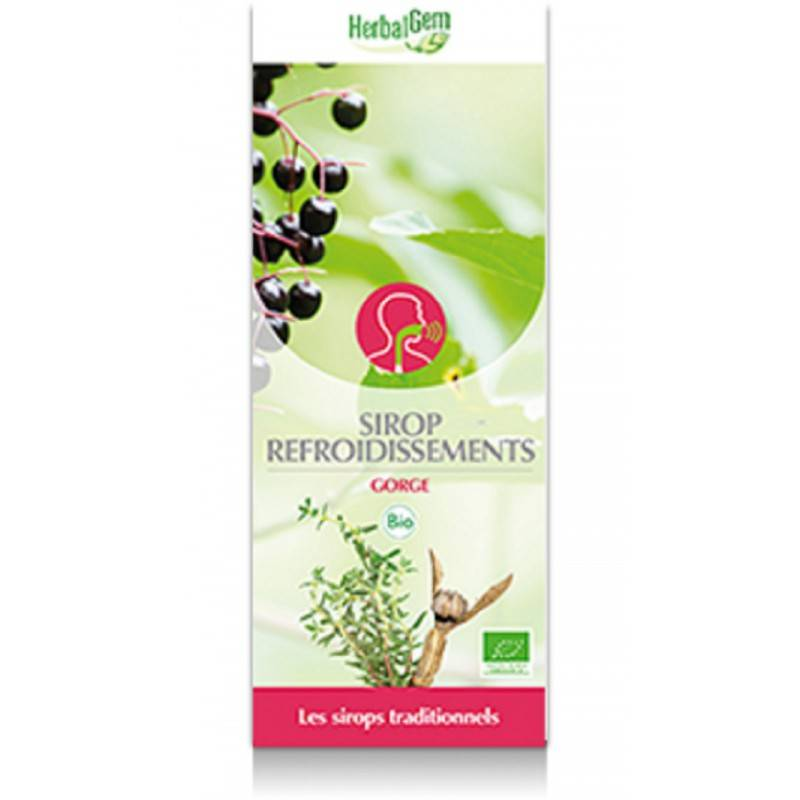 HerbalGem Sirop refroidissement bio- 250 ml - HerbalGem -