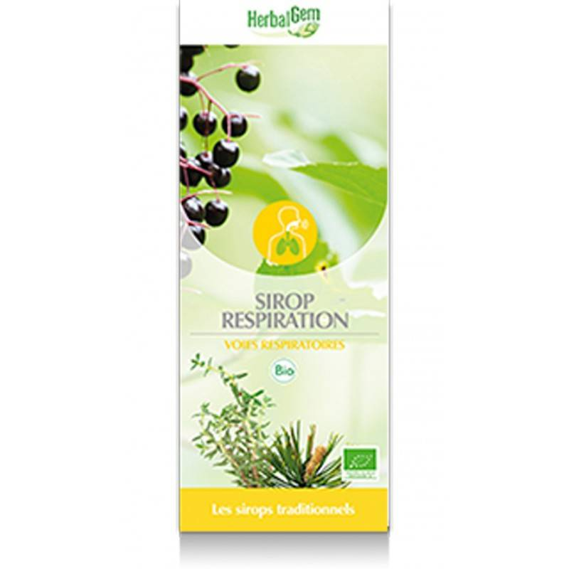 HerbalGem Sirop respiration bio - 150 ml - HerbalGem -