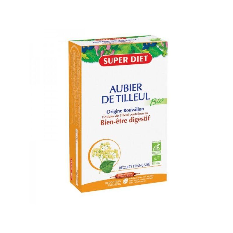 Superdiet Aubier de Tilleul Bio - Super Diet - 20 ampoules de 15 ml