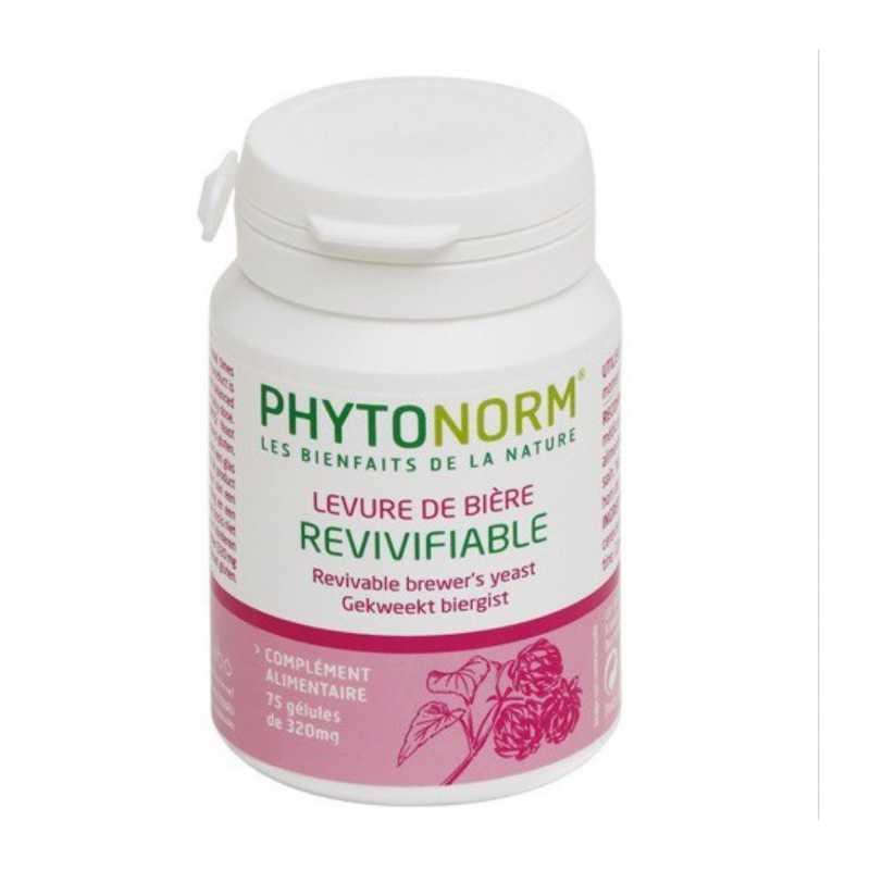 Phytonorm Levure de bière revivifiable - Phytonorm - 75, 180 gélules