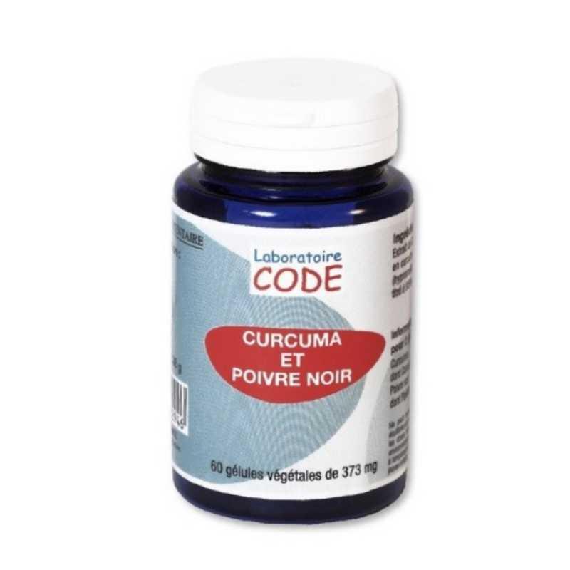 Laboratoire Code Curcuma et Poivre noir - 60 gélules - Laboratoire Code