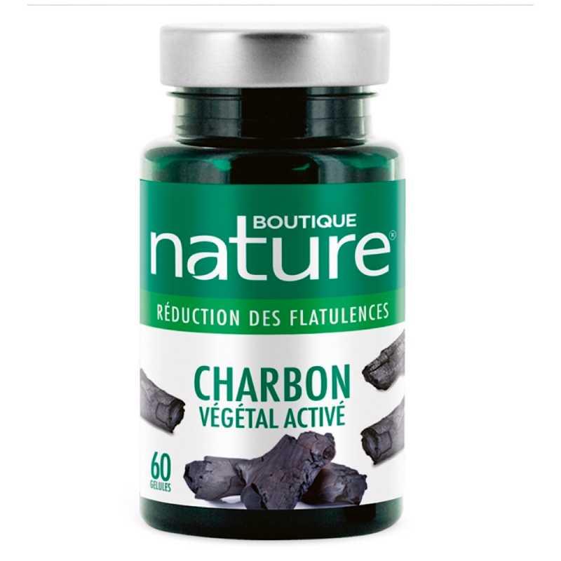 Boutique Nature Charbon végétal activé - 60 gélules - Boutique nature