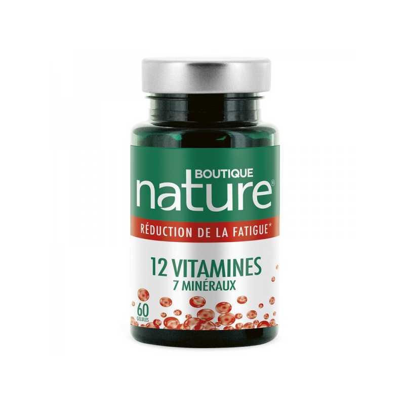 Boutique Nature 12 vitamines 7 minéraux - 60 gélules - Boutique Nature