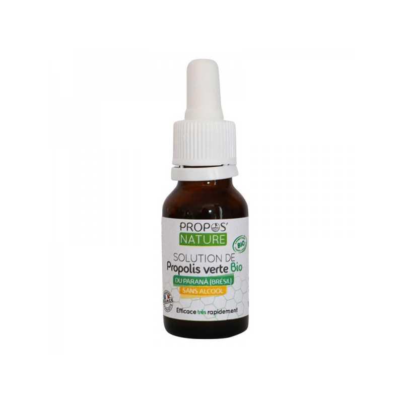 Laboratoire Propos'Nature Solution Propolis verte sans alcool Bio - 15 ml - Propos'nature