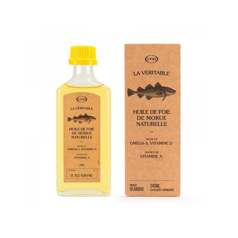 Lysi Huile de Foie de Morue naturelle - 240 ml - Lysi