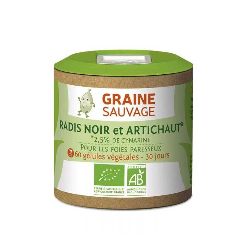 Graine Sauvage Radis noir et artichaut Bio - 60 gélules - Graine sauvage