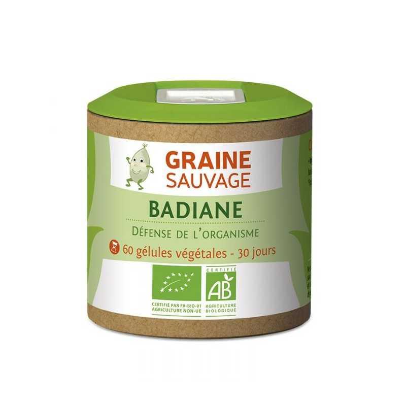 Graine Sauvage Badiane Bio, 60 gélules - Graine Sauvage