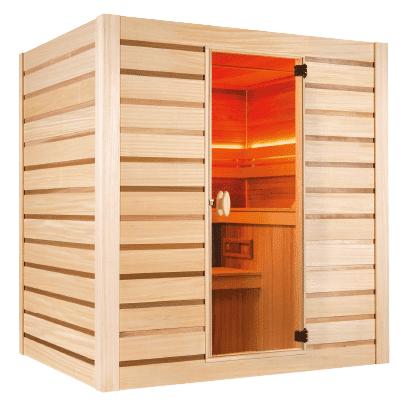 HOLL'S Sauna vapeur Eccolo 6 places avec poêle et accessoires inclus