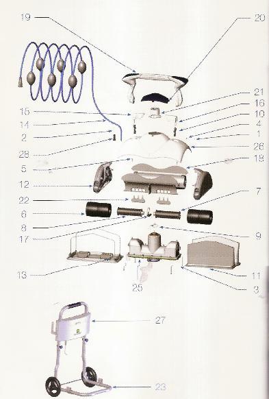Zodiac Porte filtre complet pour robot piscine zodiac cybernaut NT
