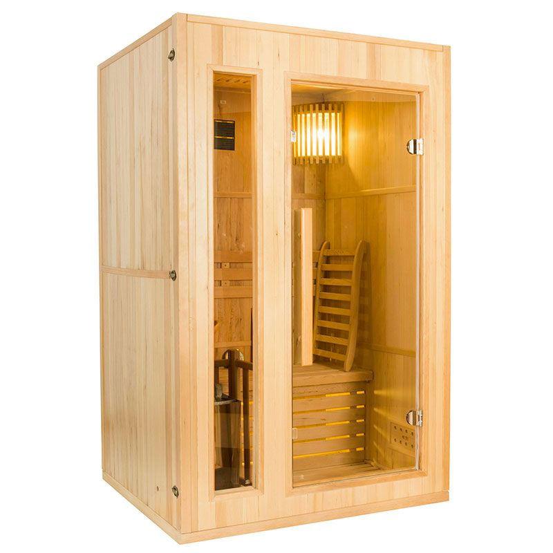 France SAUNA Sauna vapeur Zen 2 places avec poêle Lux 4,5 kW