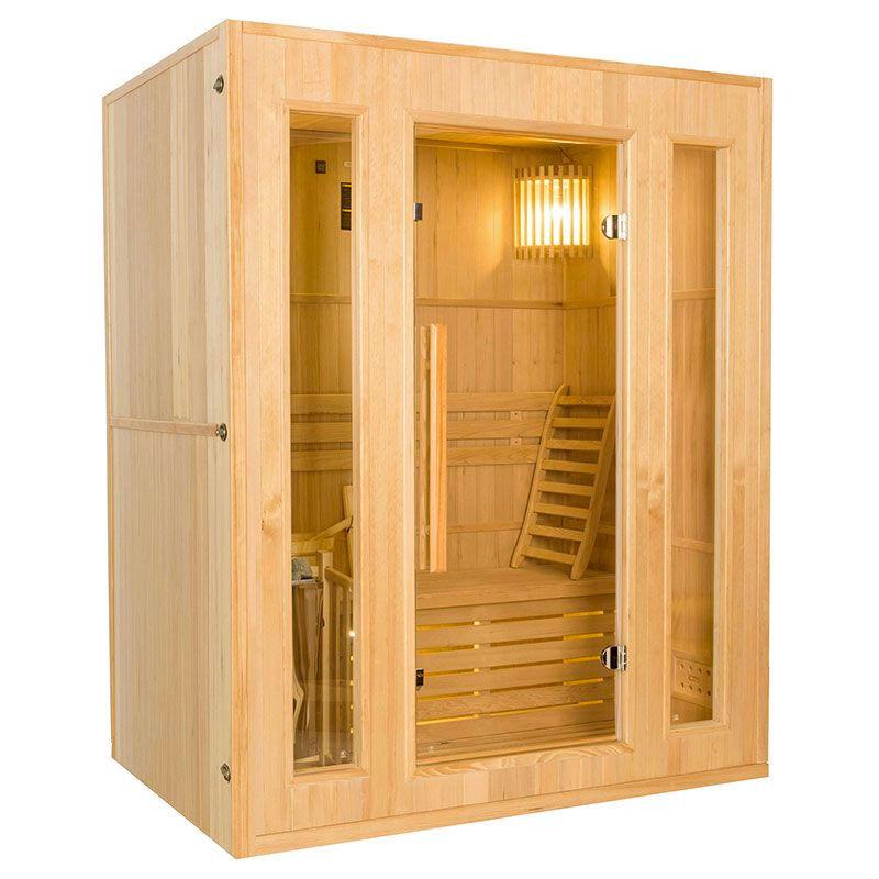 France SAUNA Sauna vapeur Zen 3 places avec poêle Lux 4,5 kW