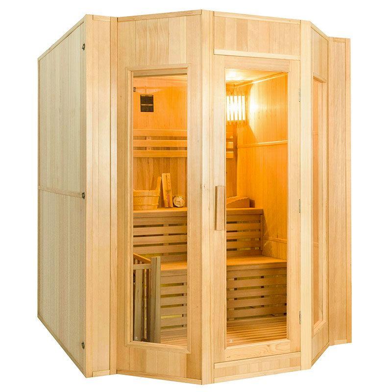 France SAUNA Sauna vapeur Zen 4 places avec poêle Lux 6 kW