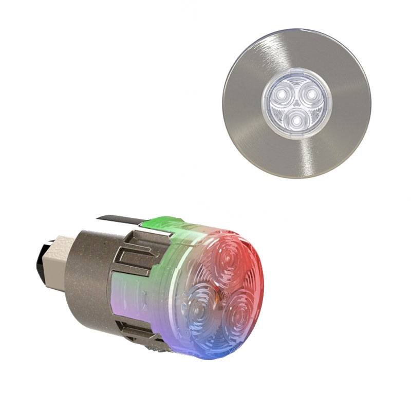 CCEI Projecteur LED couleur Mini-Brio X15 avec enjoliveur Mini-Nova Inox