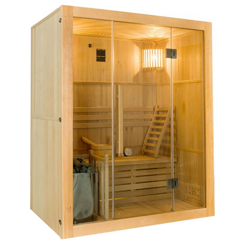 France SAUNA Sauna vapeur Sense 3 places avec poêle Lux 4,5 kW