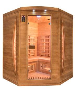 France SAUNA Sauna infrarouge Spectra 3 places angulaire