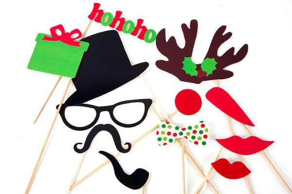 Elise et moi Set Photobooth spécial Noël! 12 accessoires photos