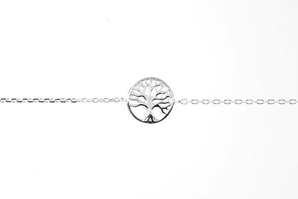 Elise et moi Bracelet arbre de vie en argent.