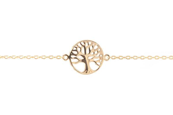 Elise et moi Bracelet arbre de vie plaqué or