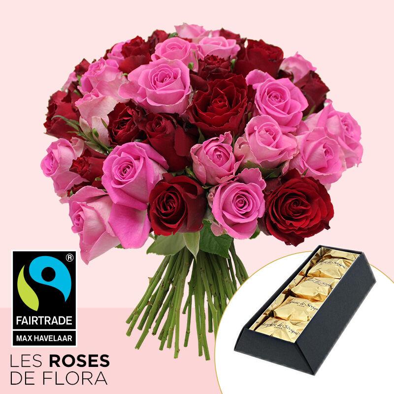 Interflora Brassée de roses et marrons glacés x4