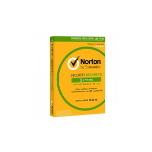 Symantec - Norton Security Standard 2020   1 poste   1 an   PC/Mac   A Télécharger - Publicité