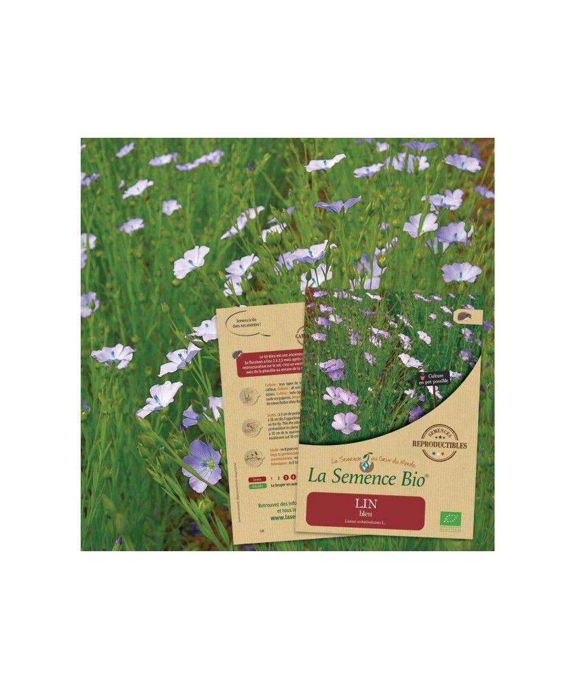 La Semence Bio Graines de LIN bleu Bio