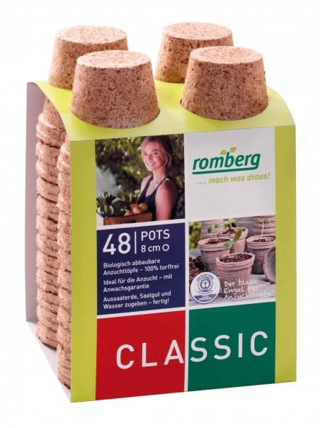 Romberg 48 pots biodégradable 8 cm