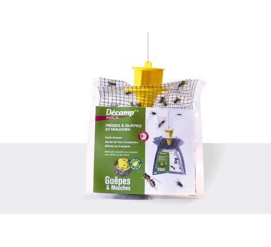 Décamp' Piège poche avec attractif spécial guêpes et mouches
