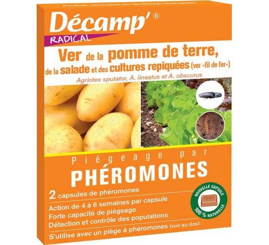 Décamp' Phéromone ver pomme de terre / cultures repiquées Conditionnement - Boite de 2 capsules