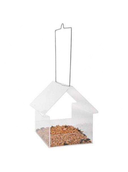 Best for birds Mangeoire suspendue transparente