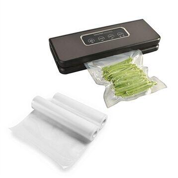 Kitchen Chef Professional Lot appareil à emballer sous vide inox brossé KCPSV60S et 2 rouleaux de sachets à découper Kitchen Chef Professional