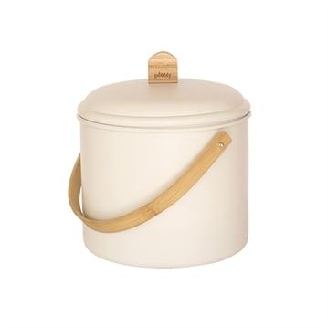 Pebbly Seau à compost d'intérieur métal et bambou 7 L Pebbly