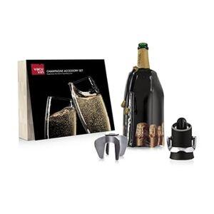 Vacu vin Coffret Accessoires à Champagne 3 pièces Vacu vin - Publicité