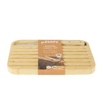 Pebbly Planche à pain 29 x 20 cm et couteau Pebbly