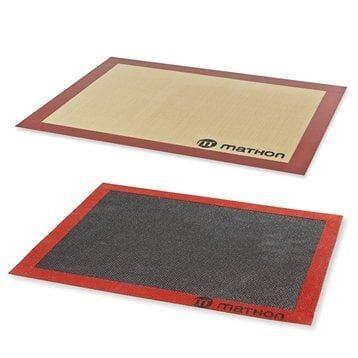 Mathon Lot tapis de cuisson et tapis de cuisson perforé silicone et fibre de verre 40 cm Mathon
