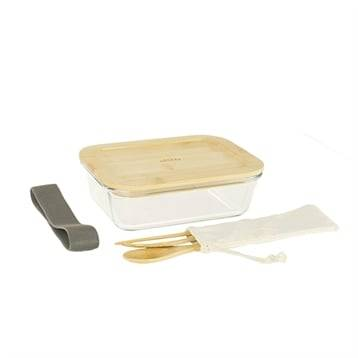 Pebbly Lunch box avec 3 couverts bambou Pebbly