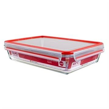 Emsa CLIP&CLOSE; boîte alimentaire en verre - 3L Emsa