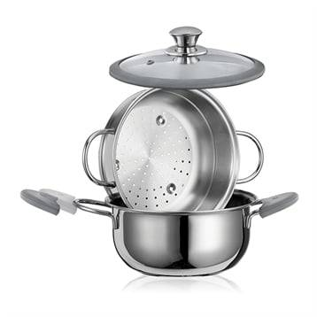 Cuiseur vapeur Premium inox 22 cm 3, 8 L