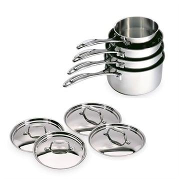 Beka Lot de 4 casseroles et 4 couvercles Chef de 14 à 20 cm Beka