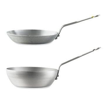 De Buyer Lot poêle paysanne 24 cm et wok 24 cm Minéral B élément De Buyer