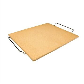 Pierre pour pizza rectangulaire 41 x 36 cm avec support