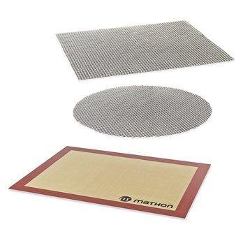 Mathon Lot 2 grilles de cuisson + tapis de cuisson en silicone Mathon