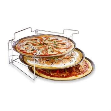 Baumalu 3 plaques à pizza avec support Baumalu