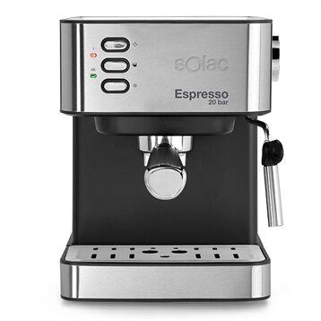 Machine à expresso automatique 2 en 1 inox 20 bar 850 W Solac