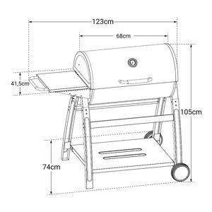 Cook'in Garden - Barbecue au charbon de bois TONINO 1 - Publicité