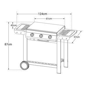 Cook'in Garden - Barbecue au gaz PUERTA LUNA - 3 brûleurs 10,5kW - Publicité